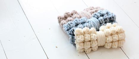 Free Crochet Pattern - Chunky Bobble Bows