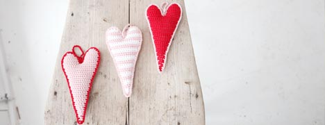 Crochet Pattern - Skinny Hearts