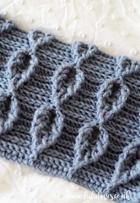 Lululoves: Crochet Cable Leaf