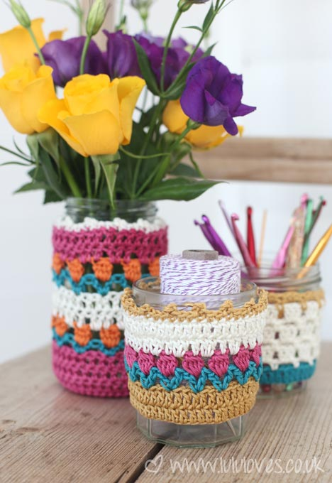 Lululoves Crochet Jar Cosies