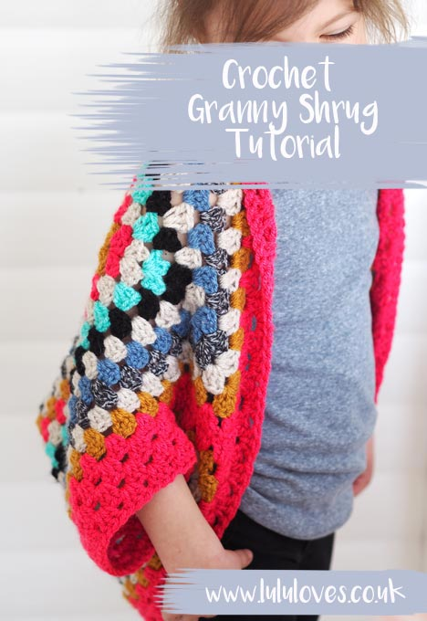 Crochet Granny Square Shrug Tutorial | Lululoves Blog